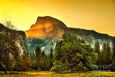 Travel Pics Royalty-Free and Rights-Managed Images - Half Dome Sunrise by Az Jackson