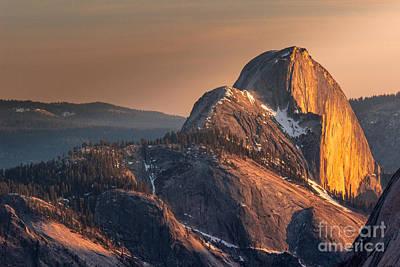 Half Dome Digital Art - Half Dome Sunset by Andrea Shuttleworth
