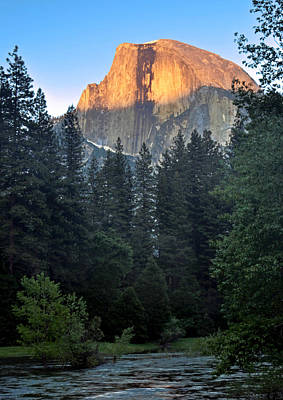 Photograph - Half Dome Sunset by Steven Barrows