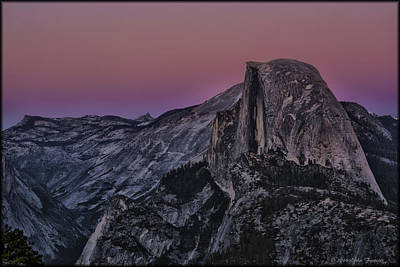 Photograph - Half Dome Twilight by Erika Fawcett