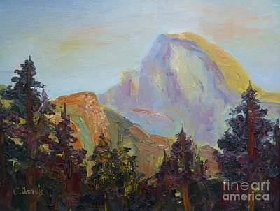 Half Dome Painting - Half Dome View by Carolyn Jarvis