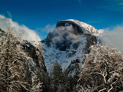 Half Dome Winter Art Print by Bill Gallagher