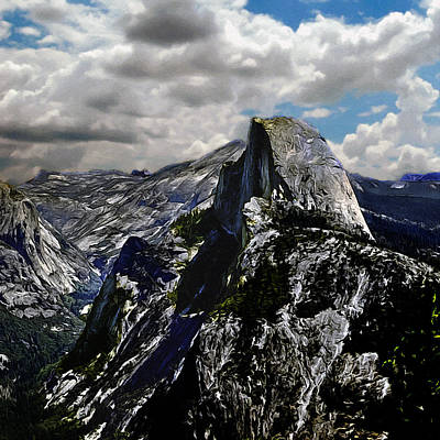 Painting - Half Dome Yosemite by Bob and Nadine Johnston