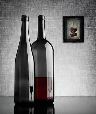 Bottle Photograph - Half Full by Greg Brave