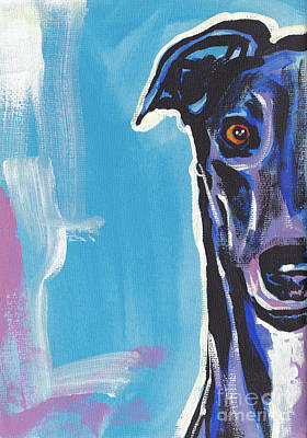 Greyhound Painting - Half Grey  by Lea S