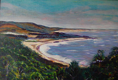 Painting - Half Moon Bay 2 by Carolyn Donnell