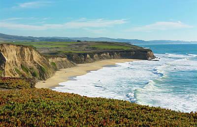 Half Moon Bay, California, Cliffs Art Print