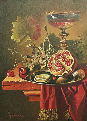 Half Of Pomegranate For You Art Print by Dusan Vukovic