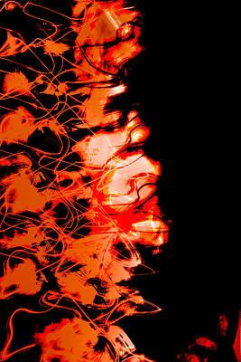 Photograph - Half Orange Half Black by Don Gradner