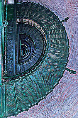 Outer Banks Photograph - Half Spiral Staircase by Tom Gari Gallery-Three-Photography