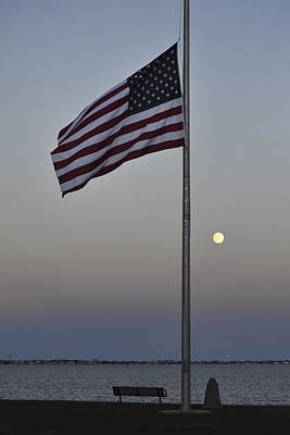 Photograph - Half Staff Moon by Terry DeLuco