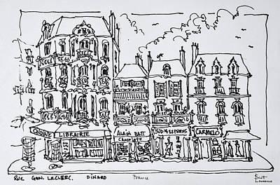 Half-timbered Architecture, Dinan Art Print