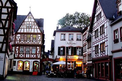 Photograph - Half-timbered Buildings In Historic Kirschgarten Of Mainz Germany by Marilyn Burton