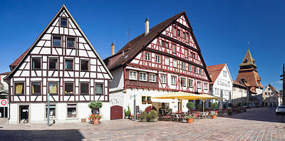 Half-timbered House And Bell Tower Art Print by Panoramic Images