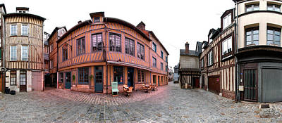 Half-timbered Houses, Pont-audemer Art Print by Panoramic Images