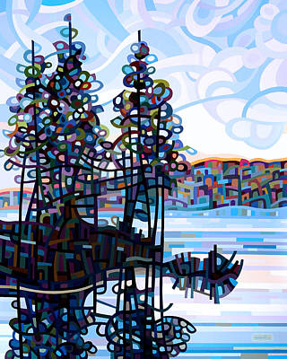 Fall Trees Painting - Haliburton Morning by Mandy Budan