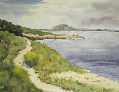 Massachussetts Painting - Halibut Point Path by Peggy Poppe
