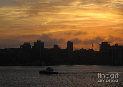 Halifax Harbour At Sunset Art Print by John Malone