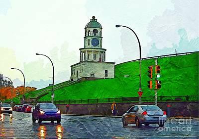 City Of Halifax Photograph - Halifax Historic Town Clock by John Malone Halifax photographer