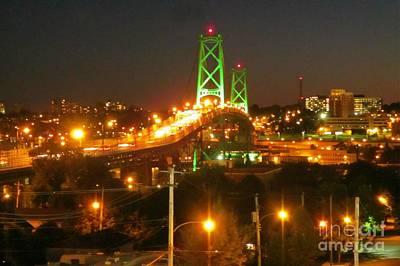City Of Halifax Photograph - Halifax Macdonald Bridge by John Malone Halifax Photographer
