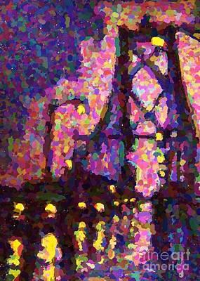 Halifax Macdonald Bridge One-poinillism Art Print