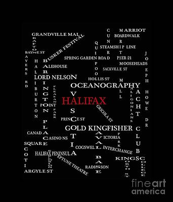 Halifax Nova Scotia Landmarks And Streets Art Print by Barbara Griffin