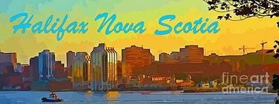City Of Halifax Digital Art - Halifax Nova Scotia Poster by John Malone