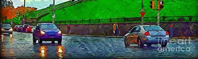 City Of Halifax Painting - Halifax Nova Scotia Streetscape by John Malone