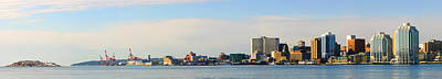 Halifax Skyline At Dawn, Halifax, Nova Art Print by Imageworks Photographic