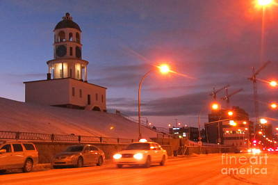 Halifax Town Clock In Halifax Nova Scotia Art Print by Halifax photographer John Malone