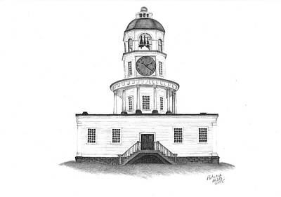 Halifax Town Clock Art Print