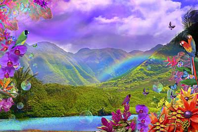Alixandra Mullins Photograph - Haliva Valley Rainbow Flowers by Alixandra Mullins