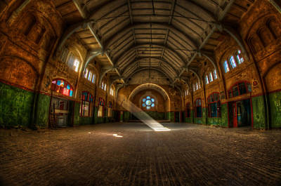 Old Buildings Digital Art - Hall Beam by Nathan Wright