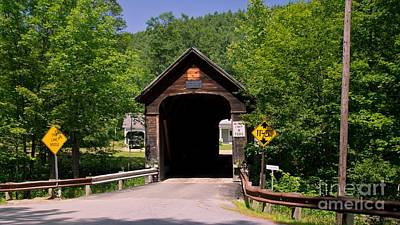 Hall Covered Bridge. Art Print by New England Photography
