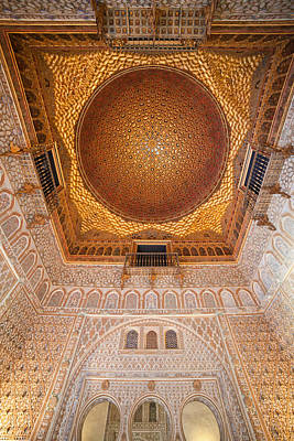 Hall Of Ambassadors Alcazar Interior Art Print