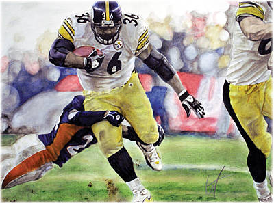 Steelers Drawing - Hall Of Fame by William Western