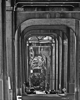 Photograph - Hall Of Giants - Beneath The Aurora Bridge by Allen Sheffield