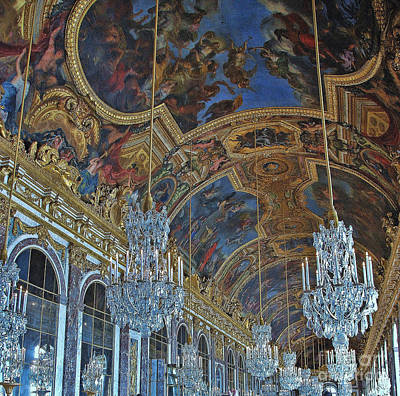 Photograph - Hall Of Mirrors - Versaille by Allen Beatty