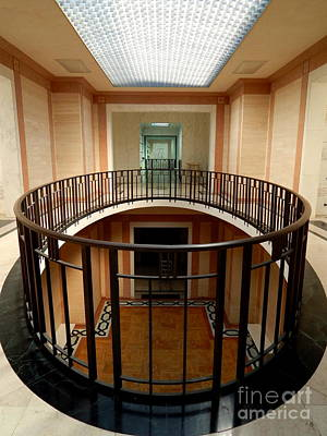 Photograph - Hall Of Spirits Mausoleum Oval Balcony  by Michael Hoard