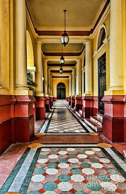 Photograph - Hall Of Teatro National By Diana Sainz by Diana Raquel Sainz
