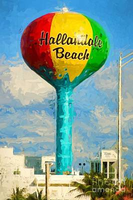 Photograph - Hallandale Beach Water Tower by Les Palenik