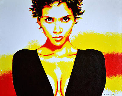 Halle Berry 2 Art Print by Victor Minca