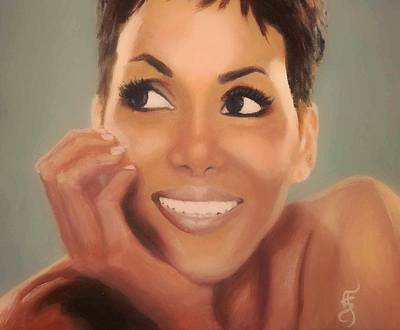 Painting - Halle Berry by Shirl Theis