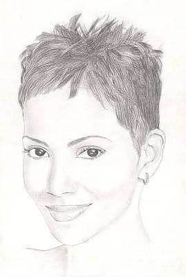 Role As Drawing - Halle Berry by Vincent Turner