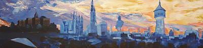 Halle Saale Germany Skyline Print by M Bleichner