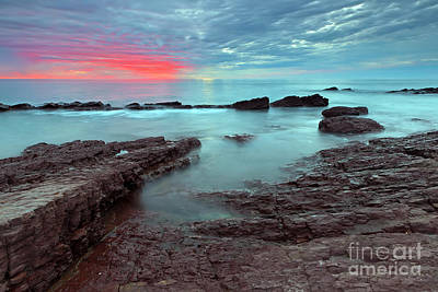 Sea Photograph - Hallett Cove Sunset by Bill  Robinson