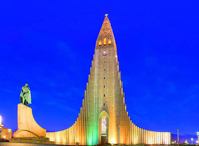 Citysape Photograph - Hallgrimskirkja Reykjavik by Julia Fine Art And Photography