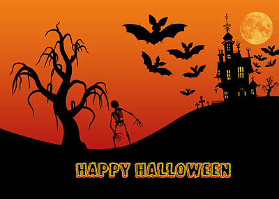 Haunted House Digital Art - Halloween by Anthony Caruso