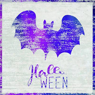 Halloween Sign Painting - Halloween Bat by Cora Niele