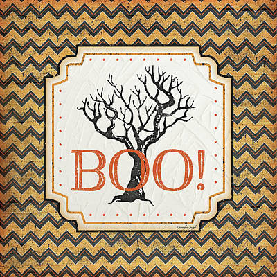 Halloween Boo Art Print by Jennifer Pugh